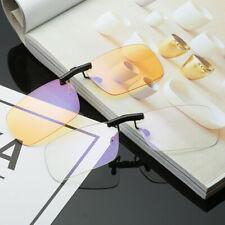 Clip On Computer Glasses Lens Blocking Blue Light Filter Eyewear Anti Glare Game