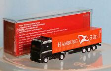 HERPA 066440, piste N, daf xf conteneur semi-remorque Hambourg-sud