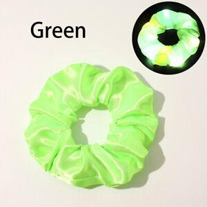 LED Luminous Scrunchies Elastic Hairband Ponytail Holder Hair Ring Hair Ties New