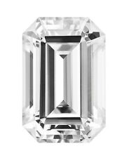 1.75 Ct Emerald Moissanite Forever One - 8x6 mm