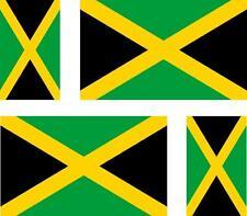 4x flag decals sticker bike scooter car vinyl helmet motorcycle jamaica jamaican