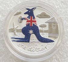 2008 Australia Kangaroo Colour $1 One Dollar Silver 1oz Coin