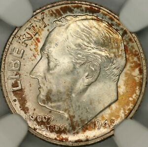 1948-S Roosevelt Dime NGC MS68