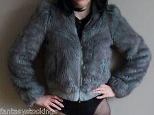 Women faux fur jacket by FireTrap in light blue - Unique Runway Sample - Small