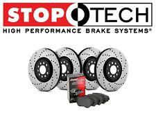 For Audi A6 Stoptech Street Drilled Front & Rear Brake Discs+Pads Kit 936.33020