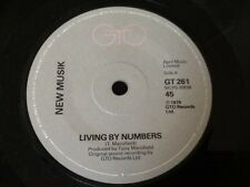 "NEW MUSIK . LIVING BY NUMBERS / SAD FILMS 1979 . ( NEW WAVE POWER POP ) 7"" vinyl"