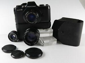 Pentax auto 110 Kamera mit 3 Objektive 18 mm 24 mm und 50 mm