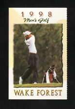Wake Forest Demon Deacons--1998 Golf Pocket Schedule--Nike