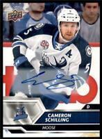 2019-20 UD AHL Auto Parallel #65 Cameron Schilling - Manitoba Moose