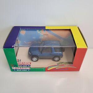 Dragon Models Mini Cars Toyota Rav4 Hasegawa 1996 Blue 1:43 HTF