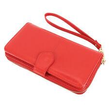 Women Ladies PU Leather Wallet Long Purse Beautiful Handbag Zip Photo Holder  US