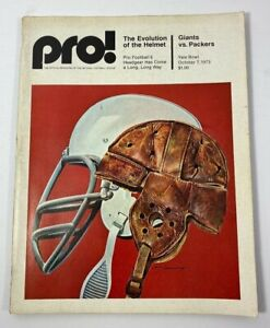 PRO! Official Publication of The NFL, New York GIANTS vs PACKERS October 7, 1973