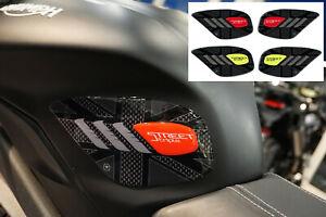 2 Protections 3D Côtés Réservoir Moto Compatible Triumph Street Triple 2013-2021