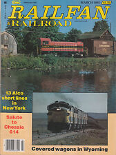 RAILFAN & RAILROAD 3/82 ALCO SHORTLINES in NY CHESSIE 614 UNITED STATES STEEL F7