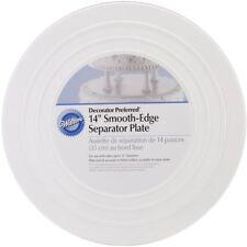 Wilton 14 Inch White Smooth Edge Round Separator Cake Plates Preffered Decorator