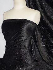 Velvet Spandex Luxuriously Soft Velvet Fabric Star Gazer GVEL40 BKSL