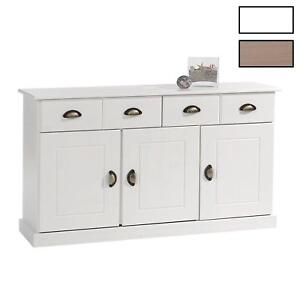 Buffet commode vaisselier 3 portes 2 tiroirs pin massif