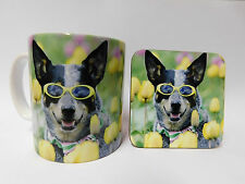 Australian Cattle Dog Mug and Coaster Set