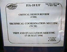 F 18 CRITICAL DESIGN REVIEW, TECHNICAL COORDINATION TEST EVALUATION JET FIGHTER