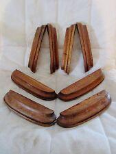 lot de 8 anciennes poignées en bois pour bureau-meuble métier-noyer-art déco