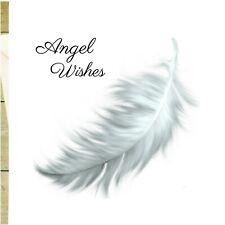 White Angel Feather Greeting Card. Blank Angel Card. Guardian Angel Card glitter