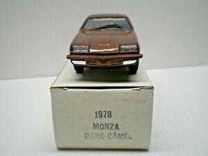 1978 Chevy Monza Promo in Dark Camel with original box 1/25th scale  L@@K!