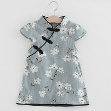 Toddler Kids Baby Girl Floral Midi Dress Casual Princess Party Dress Clothes