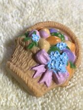 Hallmark Easter Basket Of Decorated Eggs Brooch Pin