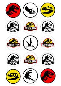 Jurassic Park WorldDinosaur Cupcake Toppers | Edible Print | Icing / Wafer Paper