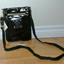 NEW Ladies ANNA SUI Parfums Black Patent Leather Crossbody Bag Swingpack