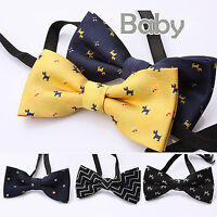 1x Boys Kids Children Party Wedding Dance Silk bow tie Necktie bowtie