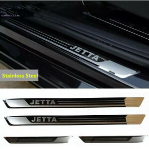 Outer Door Sill Scuff Plate Guard Door Entry Pad For Volkswagen Jetta 2013-2019