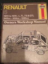 Haynes Workshop Manual 141 .Renault 5 1972 to 1978 L,TL,TS & GLT .