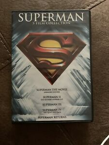 SUPERMAN 5-Film Collection: Christopher Reeve Dvd Gene Hackman Like New!  Tested