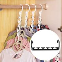 Space Saving Hanger Clothes Rack With Hook Wardrobe Closet Organizer Hot