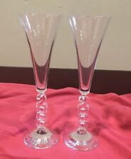 Crystal Set Of (2) Year 2000 Champagne Flutes