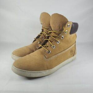 Womans Timberland Dausette Leather Lace Up Ankle Boots Wheat 8751R