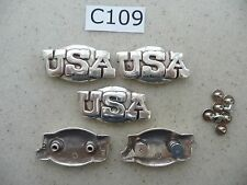 #C109 Enmon Lot of 5 USA Conchos 43x22mm Screw Backs United States of America