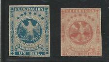 Venezuela: 1863; Scott 010 and 013, Not gum, Eagle. VE1764