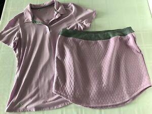 SET! AdIdas Womens Large? Tennis Set Top & Skirt Lavender TS0