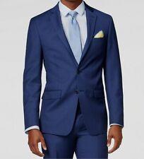 $655 Calvin Klein Mens Extreme Slim X Fit Wool Blazer Blue Jacket Sport Coat 48R
