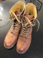 Frye Light Brown Lace Up Leather Boots Size US10