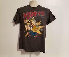 Popeye The Sailor Man Adult Medium Gray T-Shirt