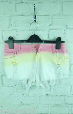 New Ladies Reverse Denim Dip Dye Ombre Cut Off Hot Pants Shorts sz 10 UK