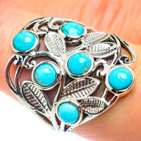 Arizona Turquoise 925 Sterling Silver Ring Size 8.25 Ana Co Jewelry R54751