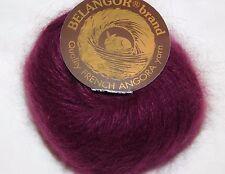 Burgundy Wine GRENAT Galler BELANGOR 100% ANGORA Rabbit Fur X-SOFT Luxury Yarn