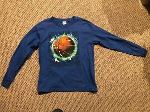 Boys Pro Spirit Blue Long Sleeve Basketball Shirt   Size L (12/14)
