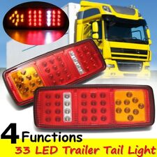 2x 33 LED Stop Brake Rear Tail Light Indicator Reverse Lamp 12V Trailer Truck RV