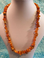 Vintage Big and Chunky Genuine Baltic Amber Nugget Beaded Necklace 50.7g
