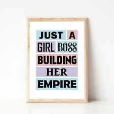 Girl Boss A5 Print | Motivational Quote | Wall Print | Home Decor - DISCOUNTED